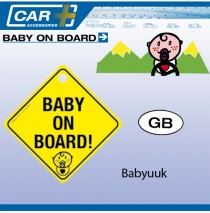 Baby on board met zuignap