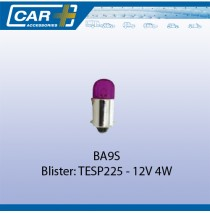 Auto lamp BA9S 12V 4W paars 2st